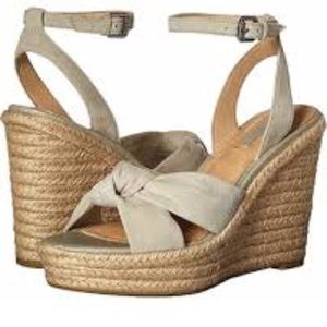 Frye Wedge Charlotte Sandals GUC!